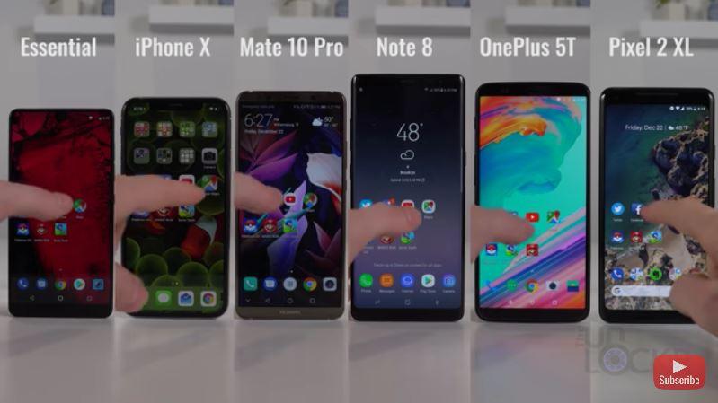 Seks av fjorårets beste smarttelefoner testes mot hverandre.