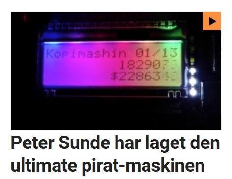 """Peter Sunde har laget en """"piratmaskin""""."""