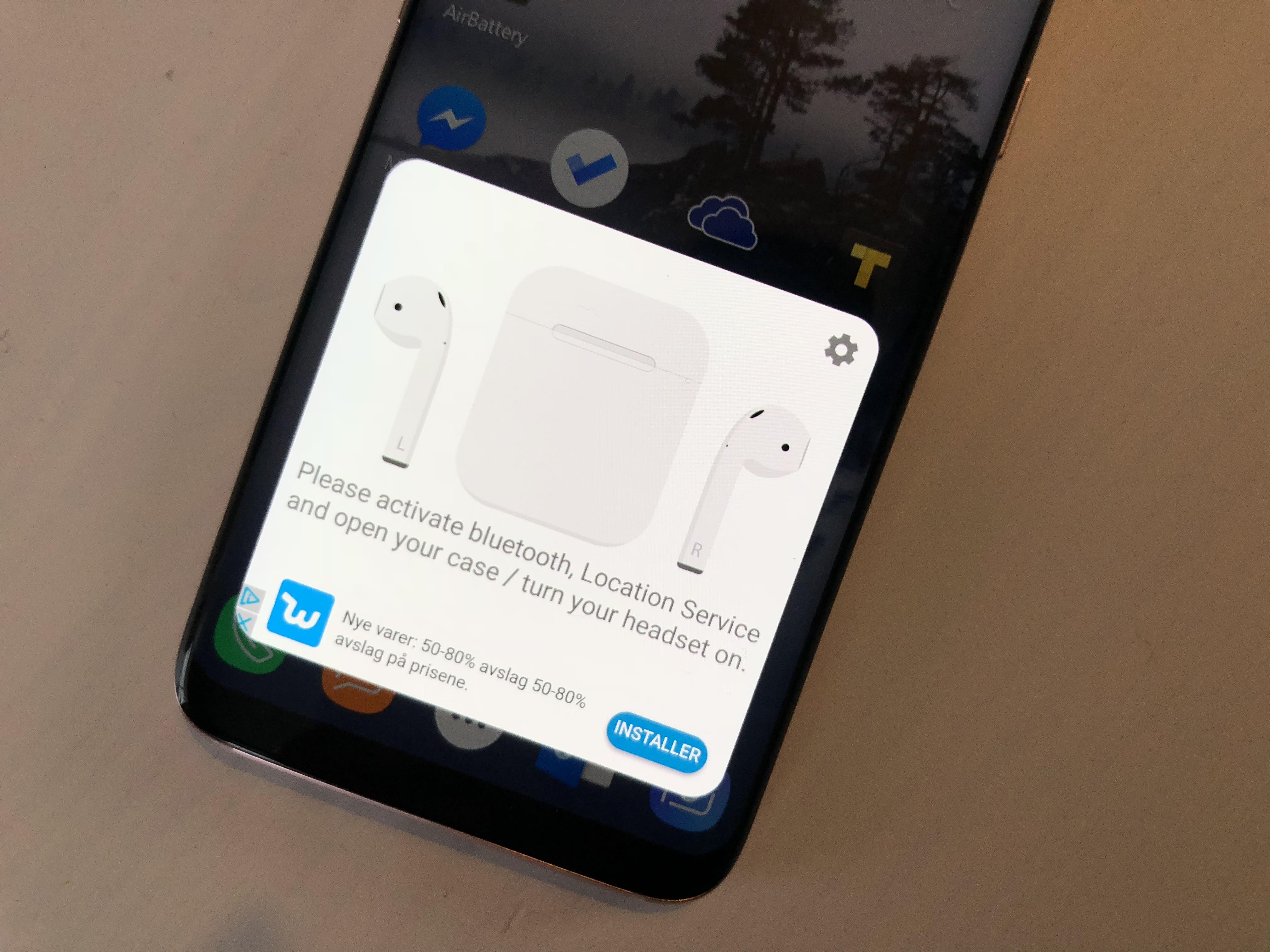 AirBattery gir AirPods mer funksjonalitet i Android.