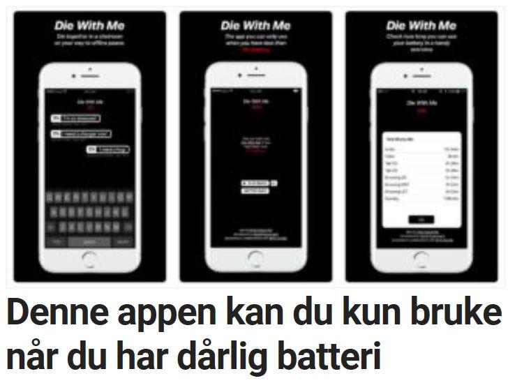 En app som kun fungerer med svakt batteri?