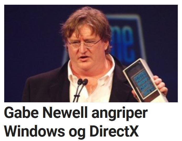 Gabe Newell er ingen tilhenger av DirectX.
