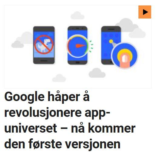 Google satser på PWA.