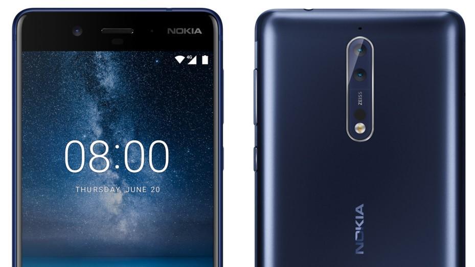Her er Nokia 8. Ifølge ryktene jobber finnene med en Pro-utgave.