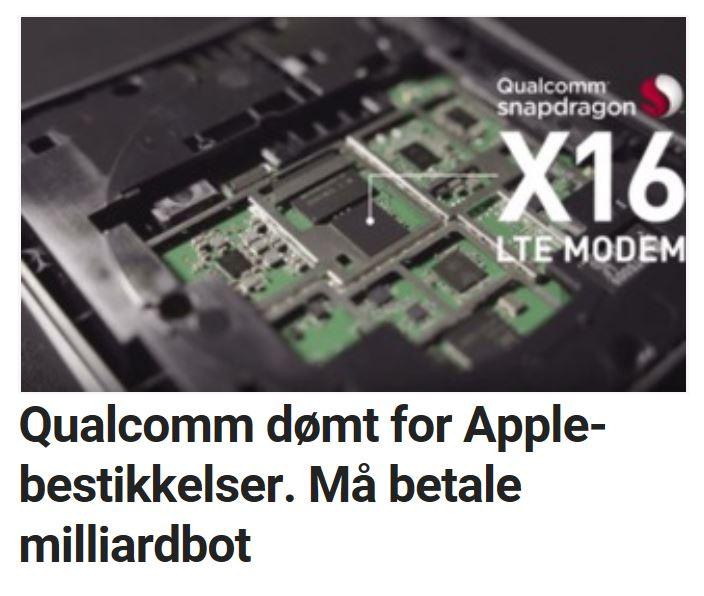 Qualcomm ilegges milliardbot.