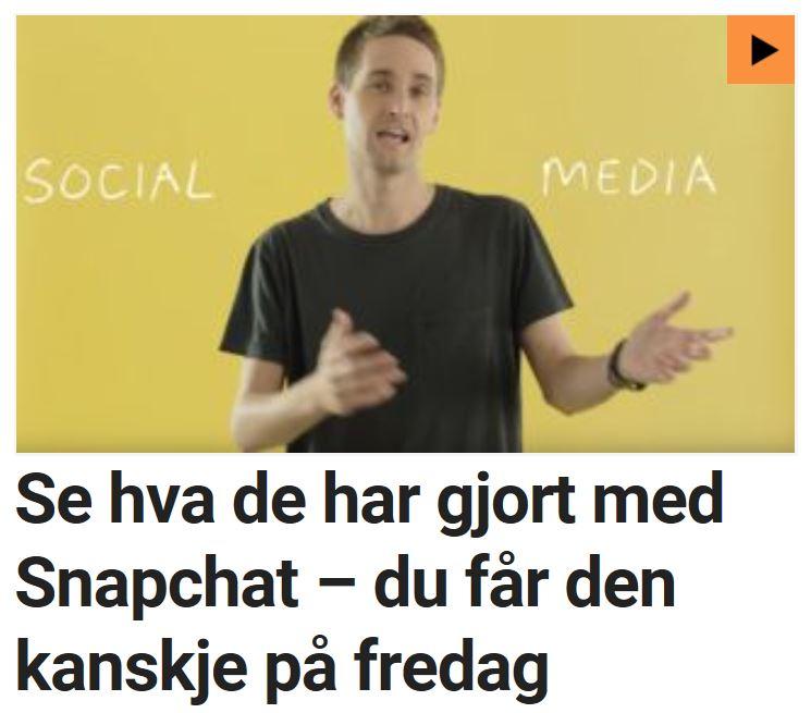 Snapchat-appen storoppdateres.