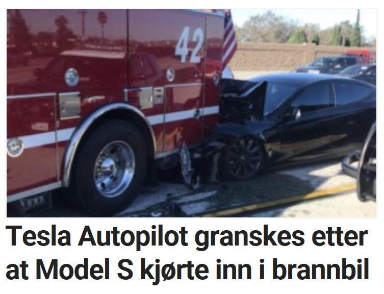 Teslas Autopilot granskes etter dette.