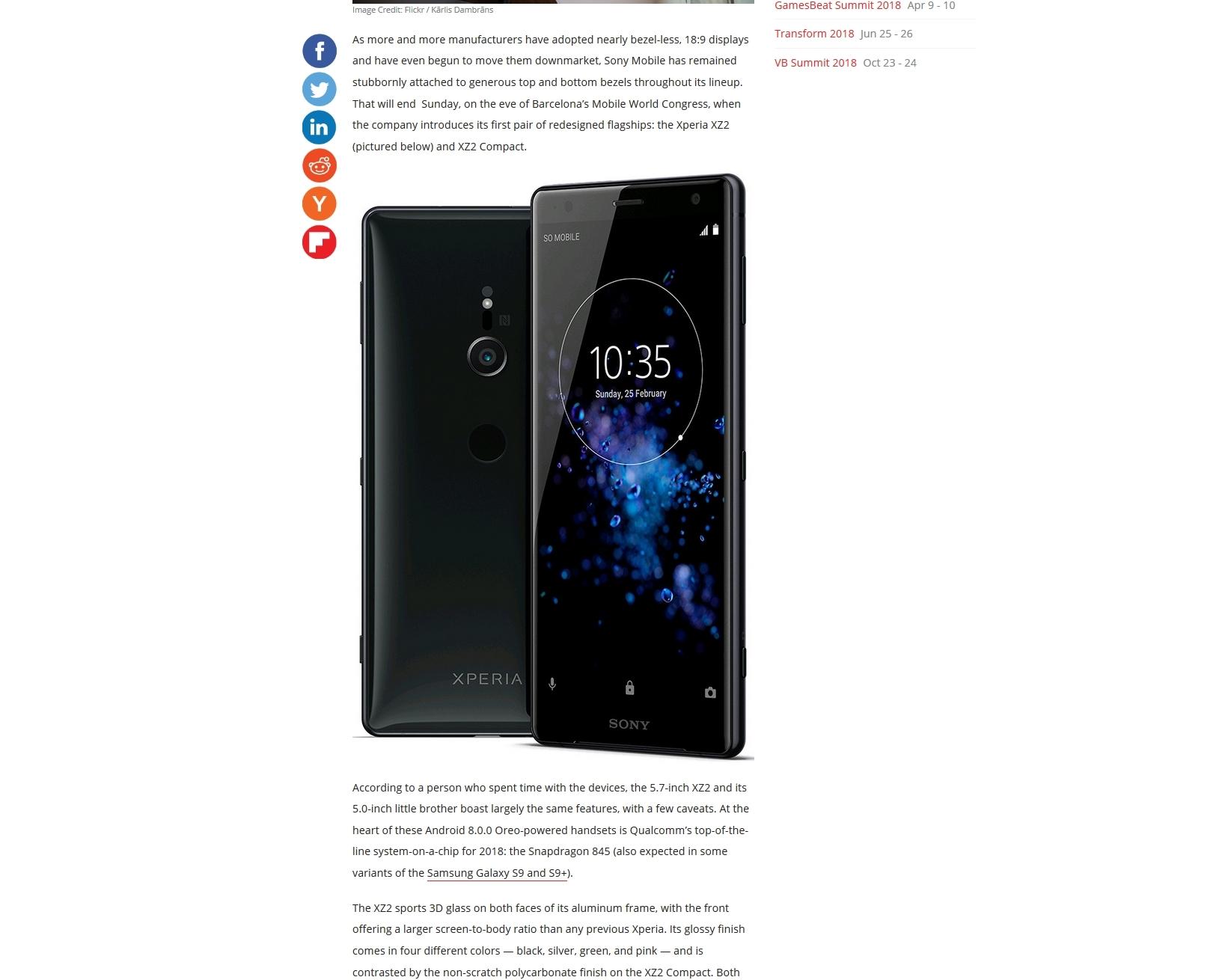 Her er Sony Xperia XZ2.