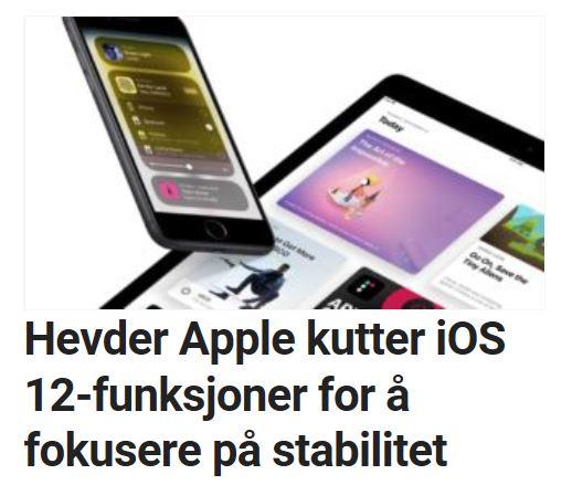 Apple fokuserer på ytelse og stabilitet fremfor nye funksjoner, ifølge dette ryktet.