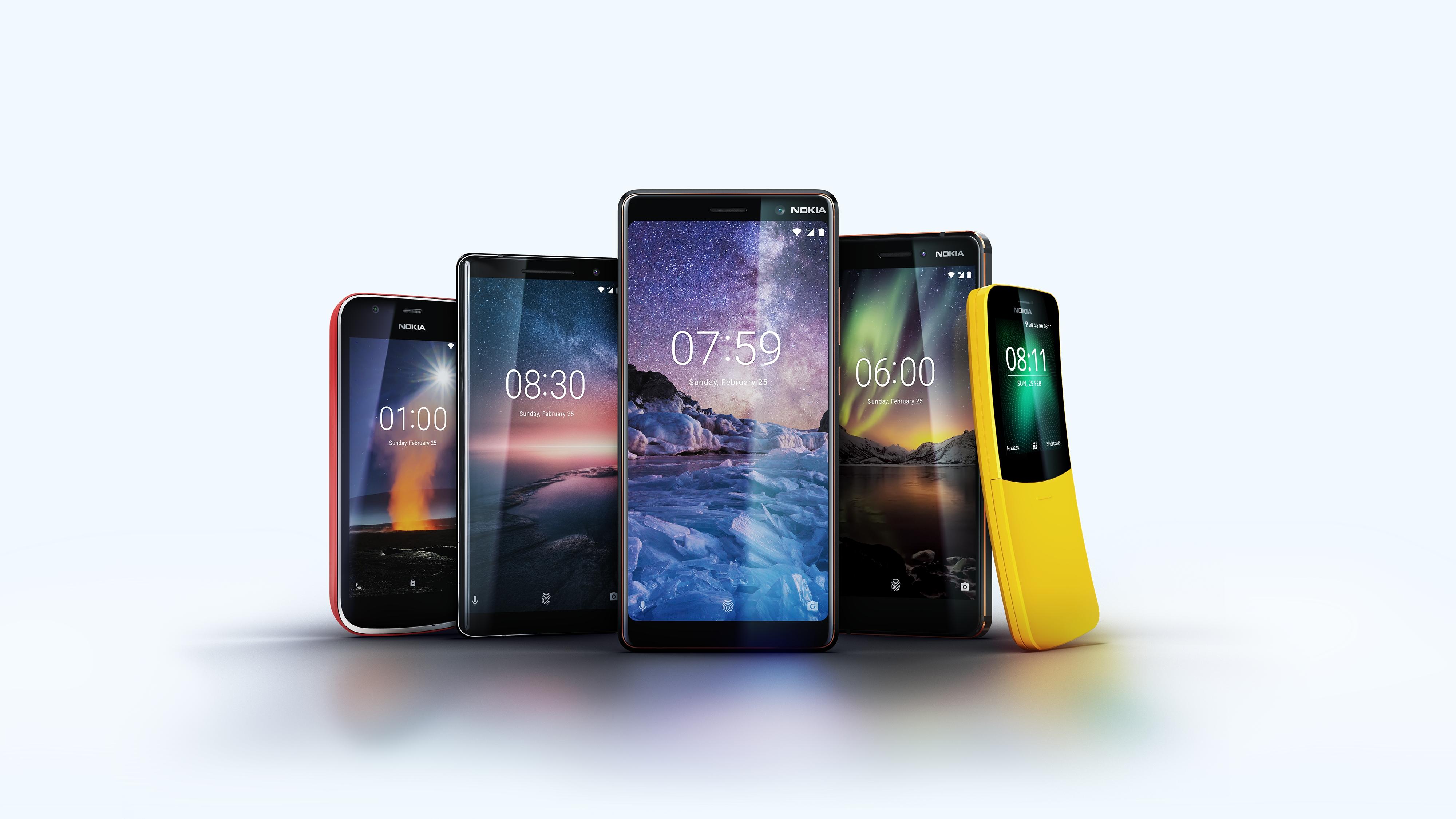 Her er Nokias MWC-telefoner.