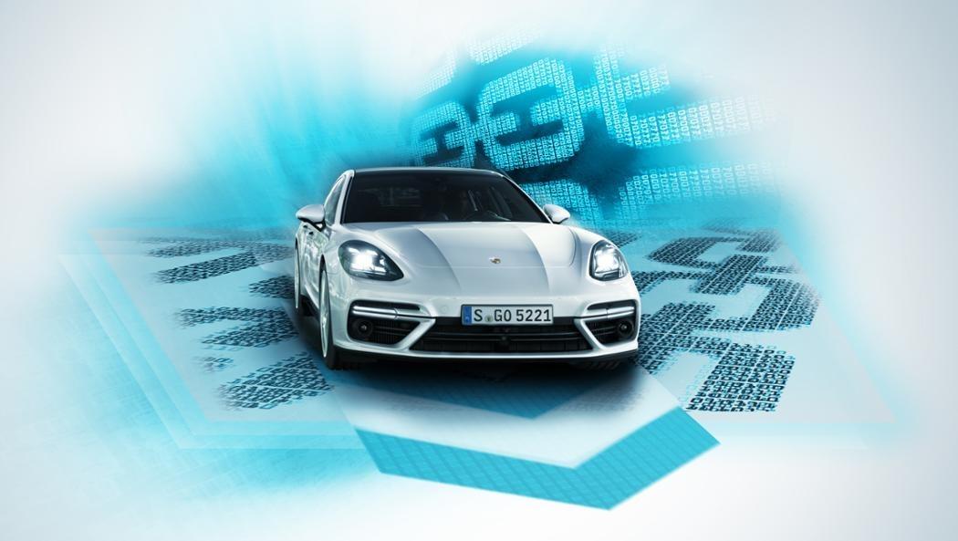Porsche tester blokkjede for bruk i bil.