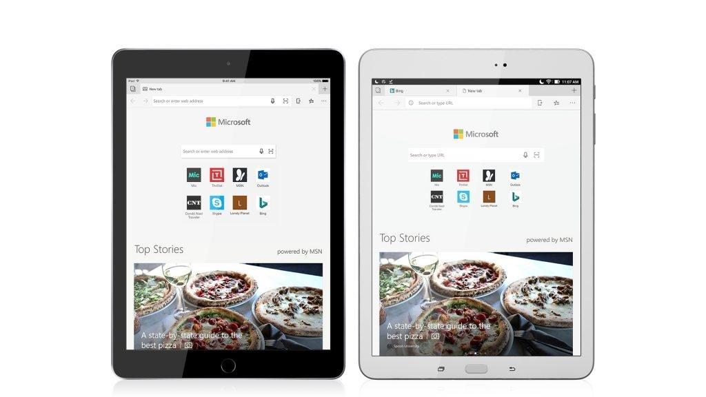 Se, nå er Edge på iPad og Android-brett