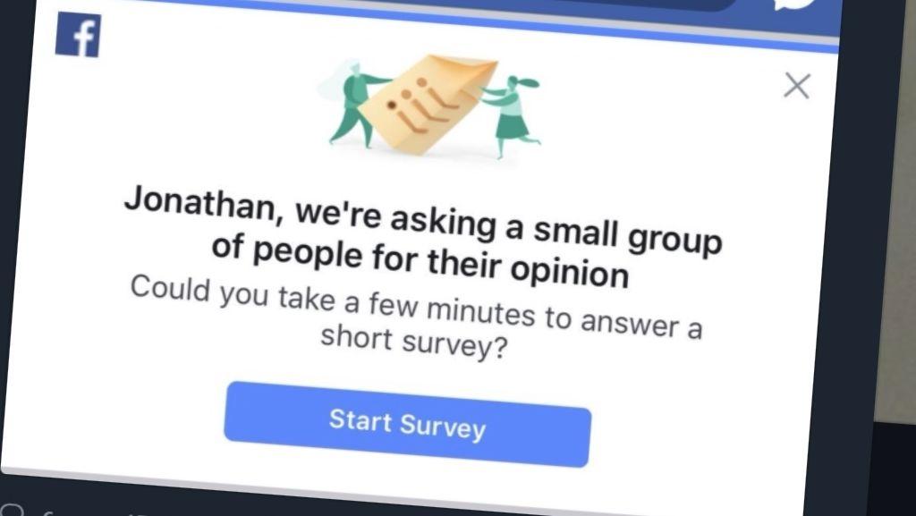 The Guardian-journalist Jonathan Haynes ble sjokkert over spørreundersøkeslen til Facebook.
