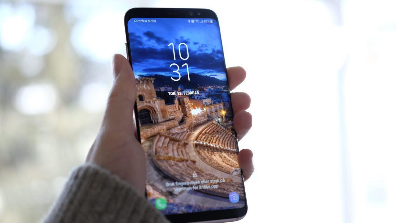 Nordmenn har fått Android 8 på Galaxy S8, men amerikanerne må vente.