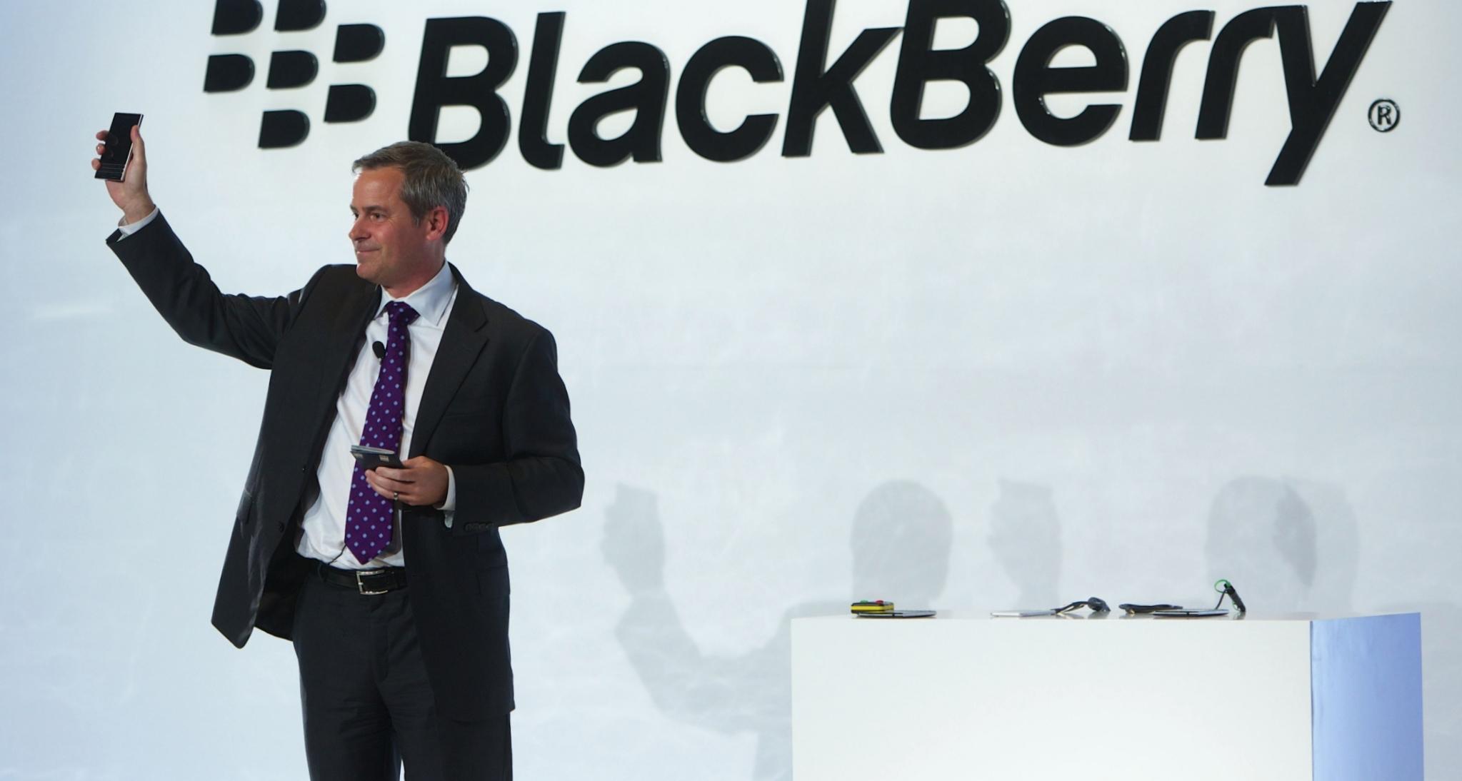 Den gang da, i 2015, var Microsoft en av de ryktede kjøperne av Blackberry.