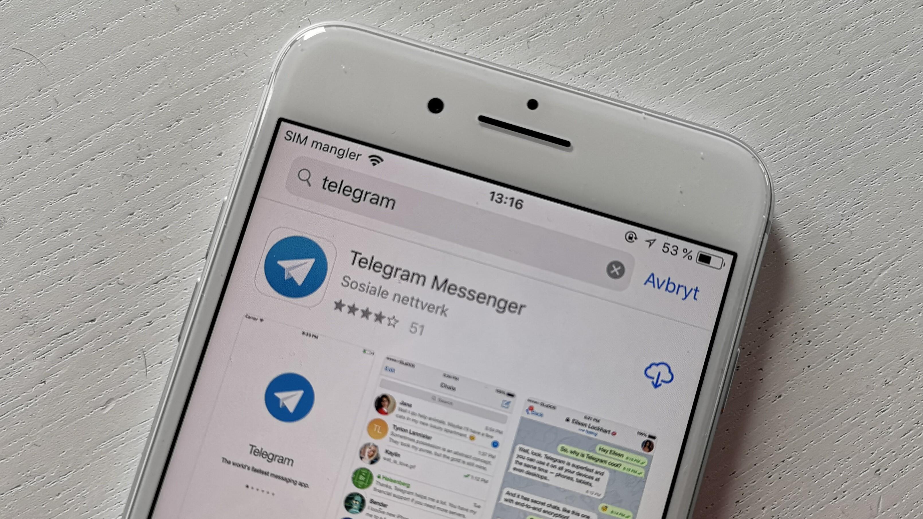 Trapper opp kampen: Russland ber Apple fjerne Telegram fra App Store.