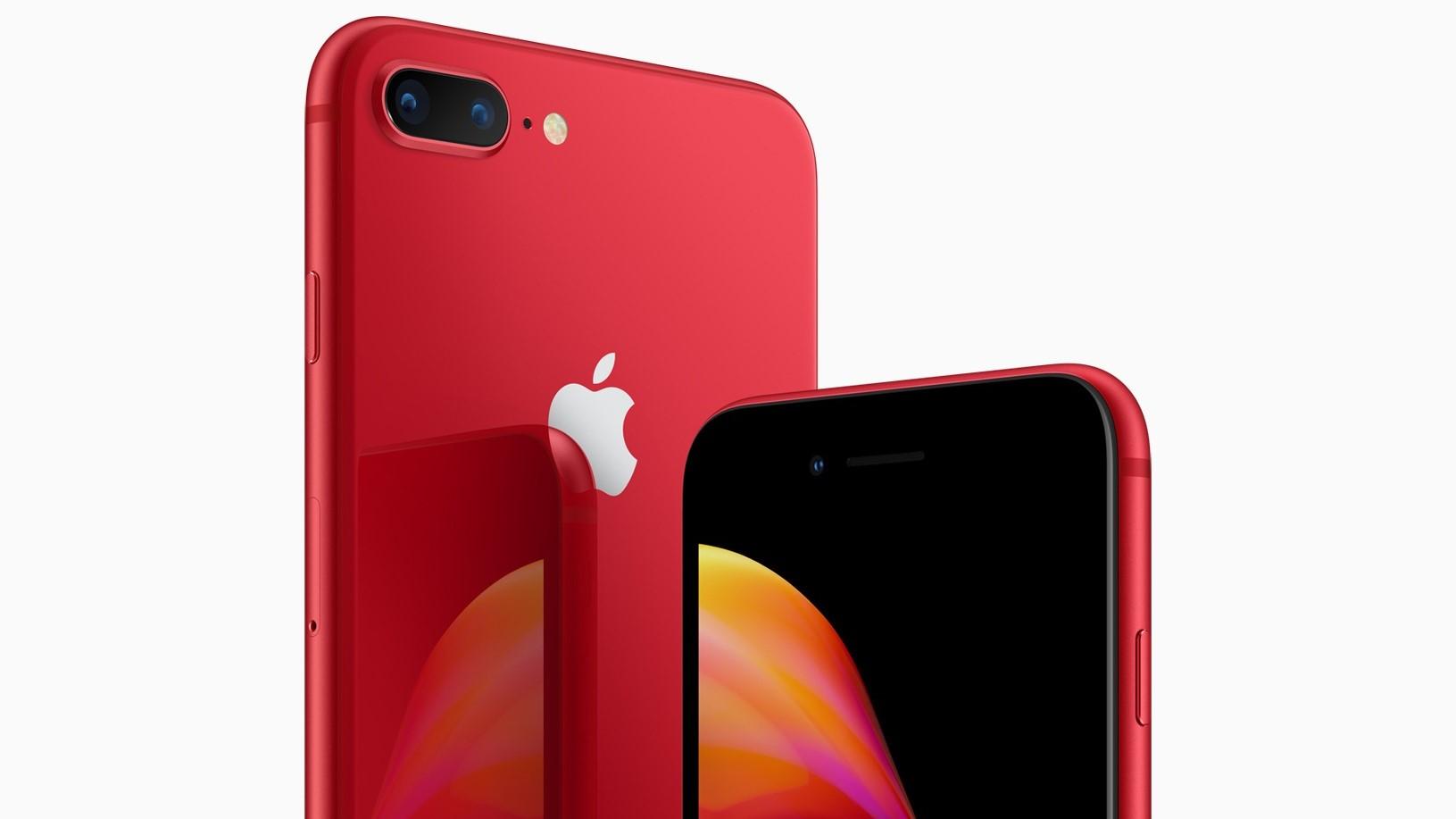 Her er den røde iPhone 8.