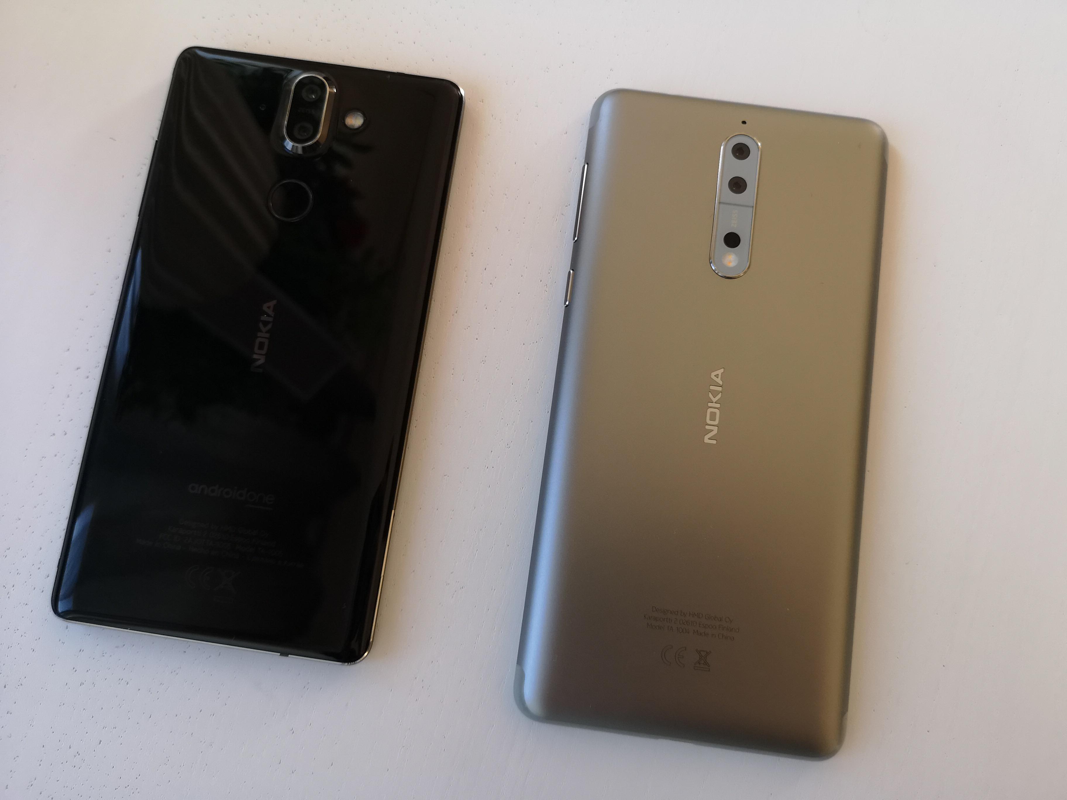 Det er få likheter mellom Nokia 8 Sirocco og Nokia 8.