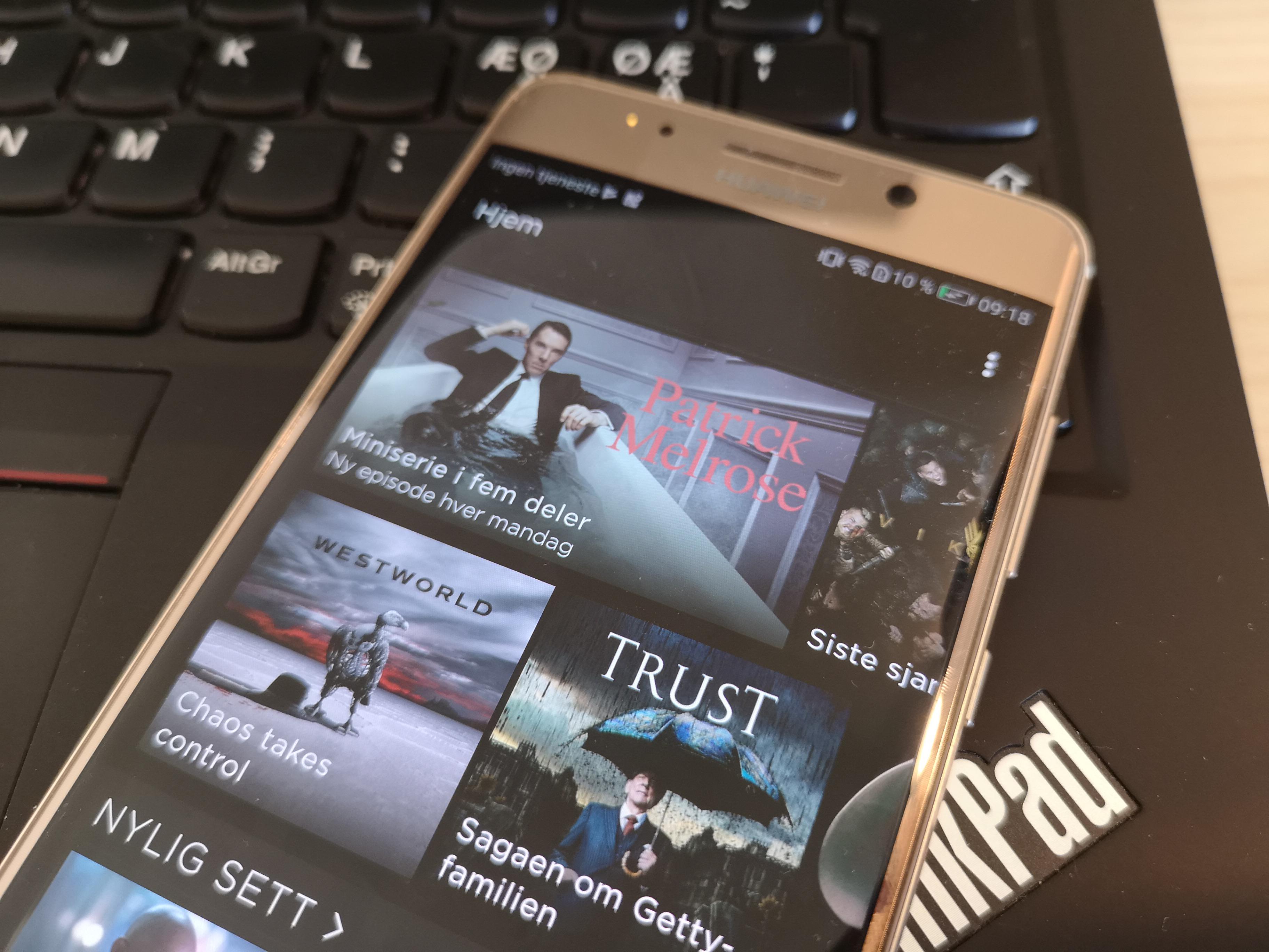 HBO Nordic: Vi støtter ikke Huawei-enheter.