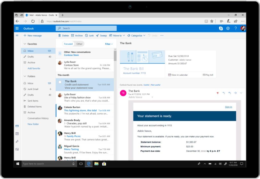 Microsoft svarer på Gmail-overhaling med Outlook-nyheter.