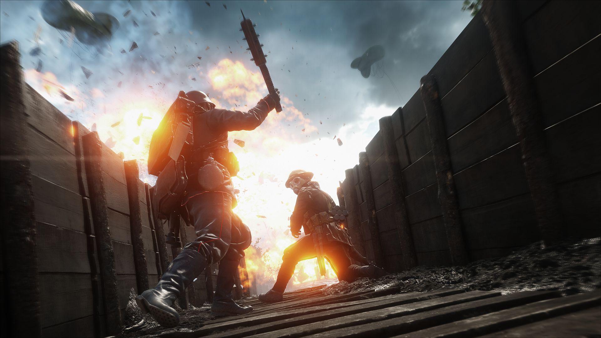 """Slik avslørte de """"Battlefield V""""-datoen i """"Battlefield 1""""."""