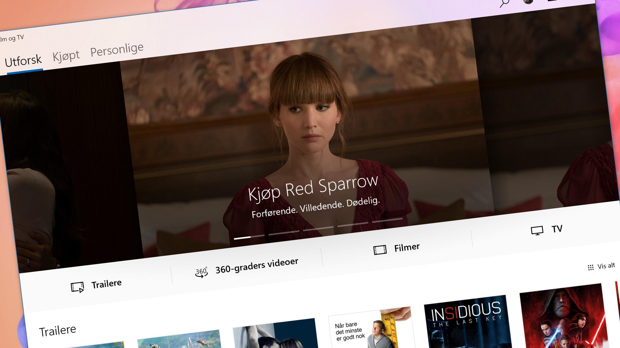 Microsofts Film og TV-app kommer til iPhone og Android.