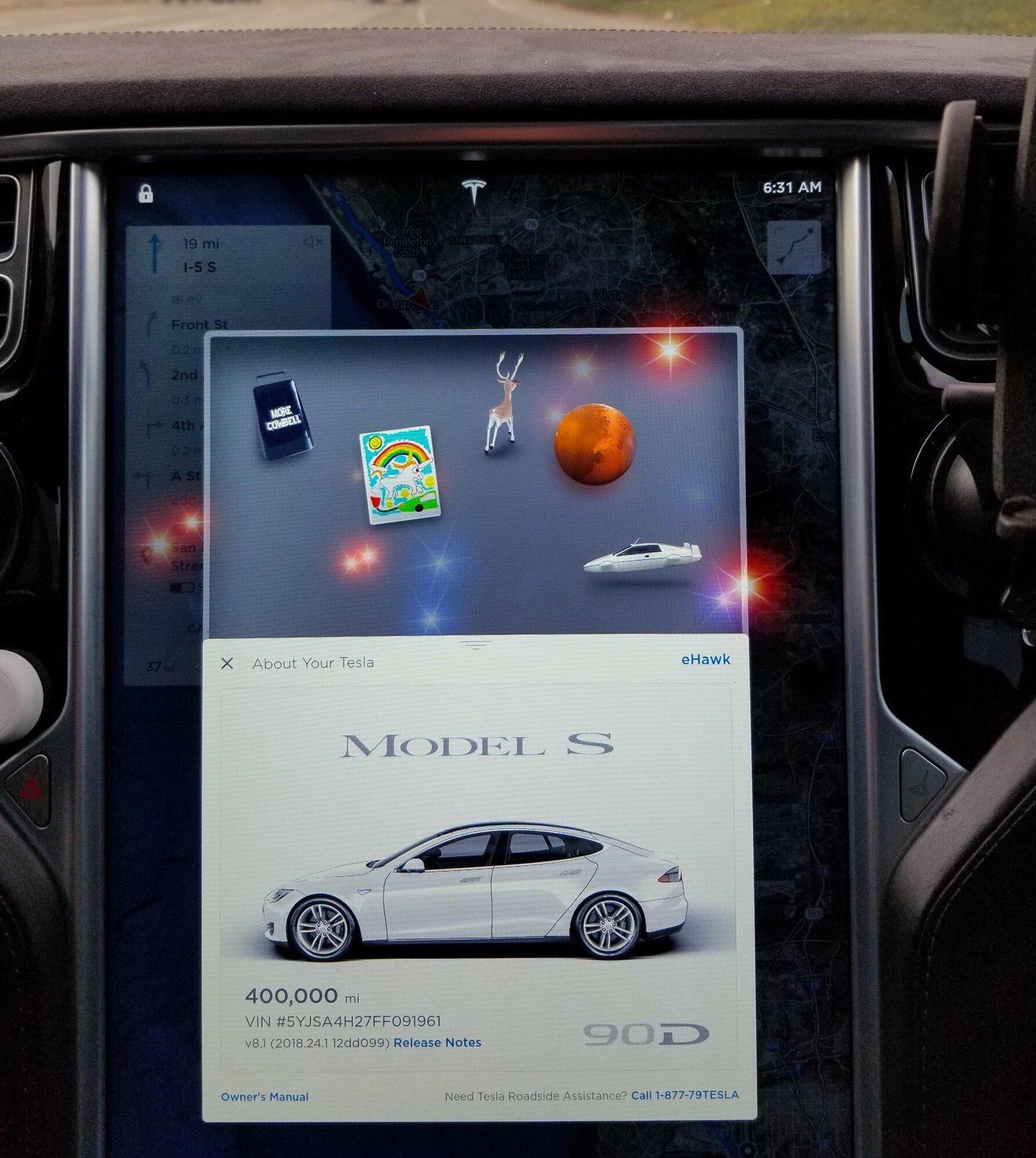 Denne Tesla Model S har kjørt over 640 000 kilometer på tre år.