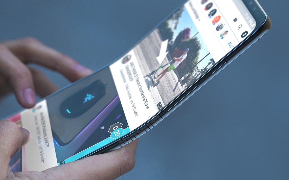 Kjøper du Samsungs foldbare Galaxy hvis den blir slik?.