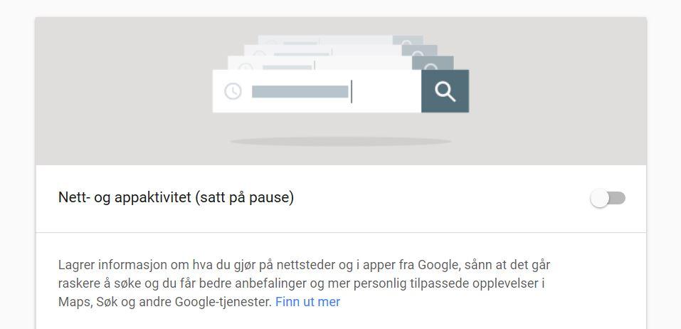 Google lagrer posisjonsdata selv om posisjonshistorikk er avslått.
