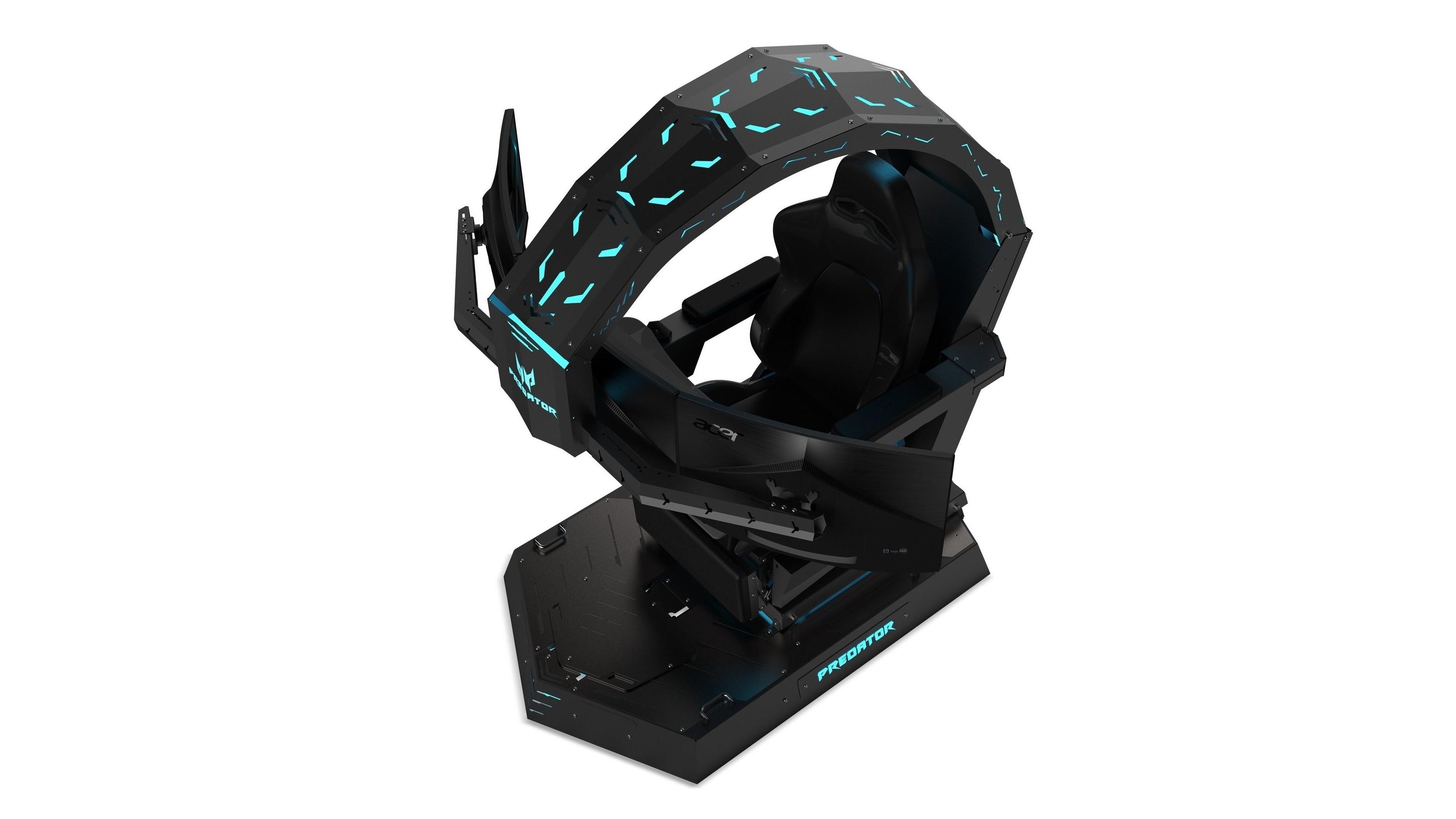 Acers ekstreme spillstol er en trone med plass til tre skjermer.