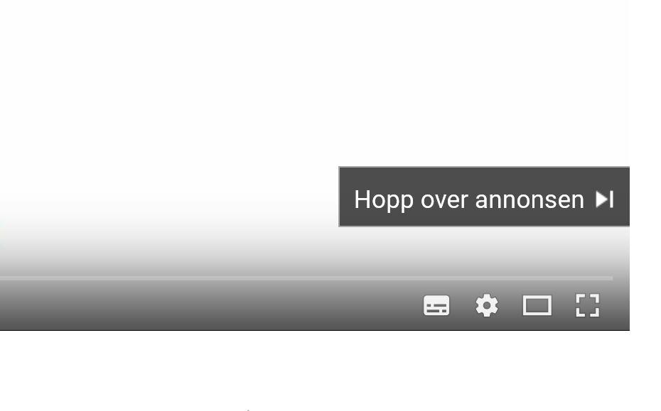 Nå vil du se mindre til denne knappen på YouTube.