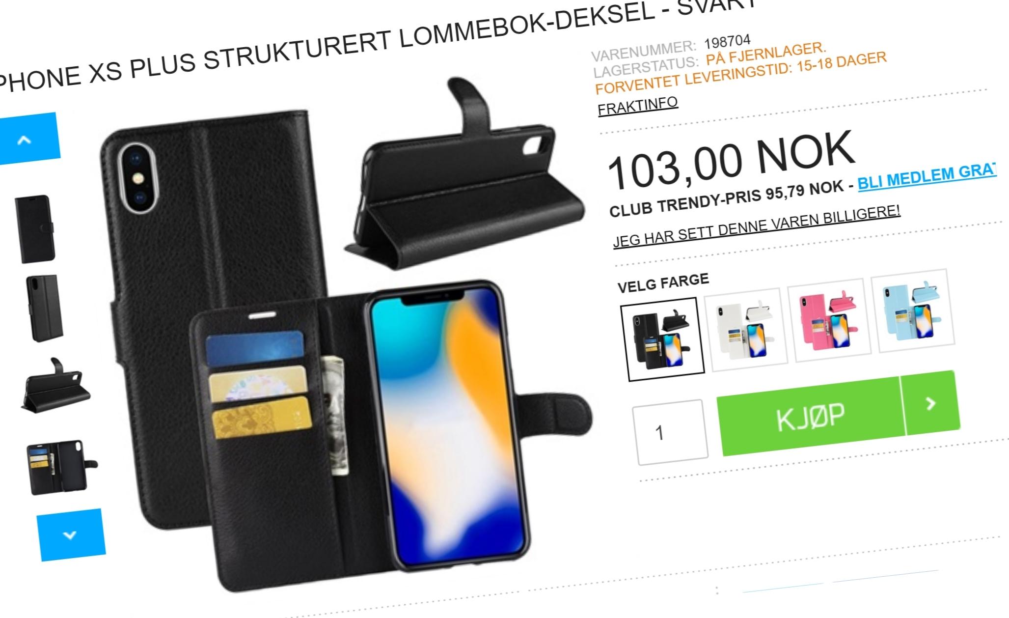 Norsk nettbutikk med iPhone XS Plus-tilbehør - den nye iPhone-modellen kommer ikke før i oktober