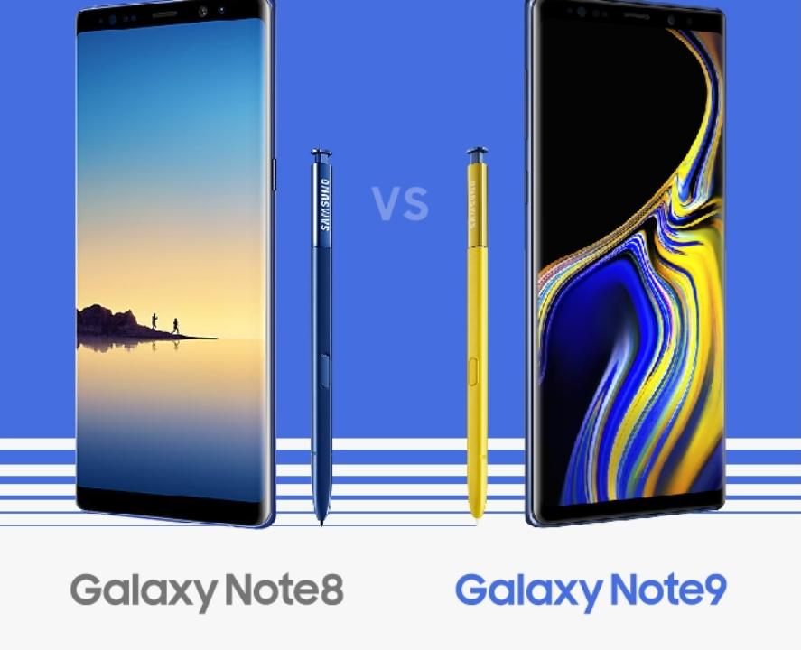 Dette er forskjellene mellom Note 8 og Note 9