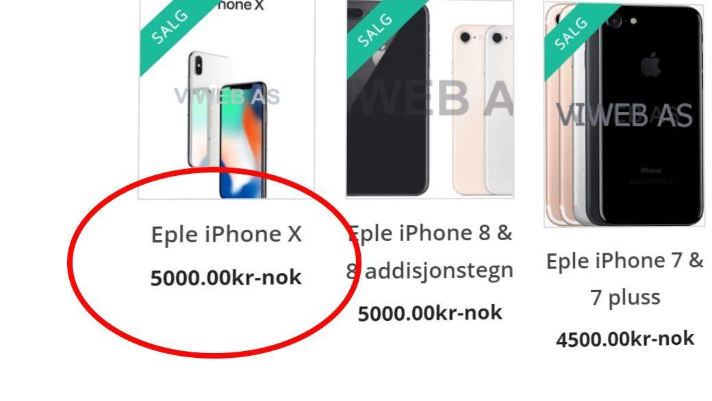 Norsk butikk solgte iPhone X 256GB til 5000 kroner og iMac til under halve prisen