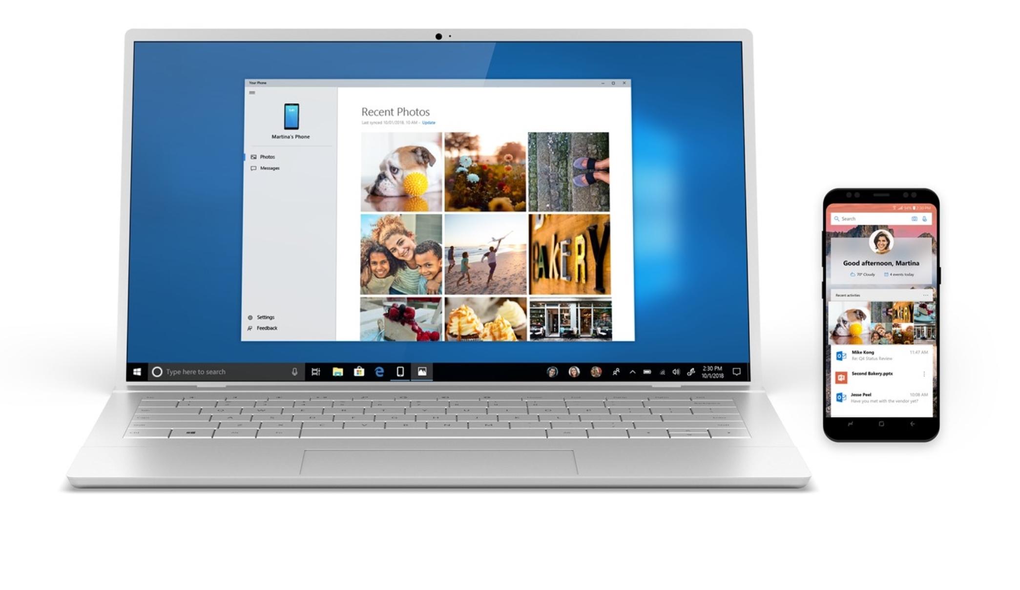 Nå er Your Phone lansert til Windows 10