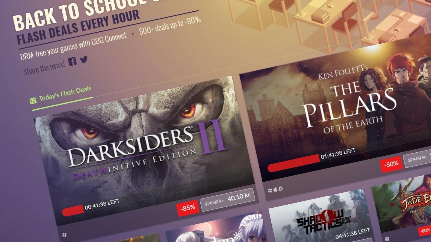 GOG har tilbud på over 400 spill.