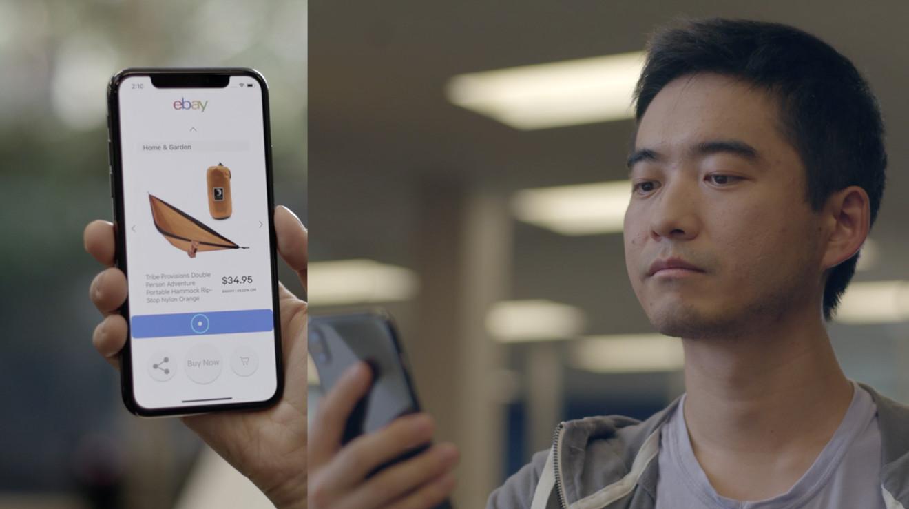 eBay-teknologi gjør det mulig å bruke iPhone X uten hendene.