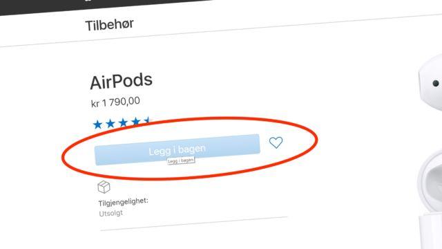Se hva apple er utsolgt for i norge n kommer trolig - Er finestra mac ...