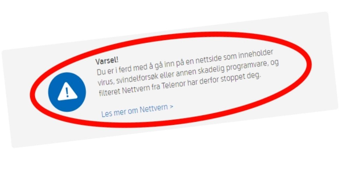 Visste du at Telenor har en liste over nettsider du ikke får lov å besøke?