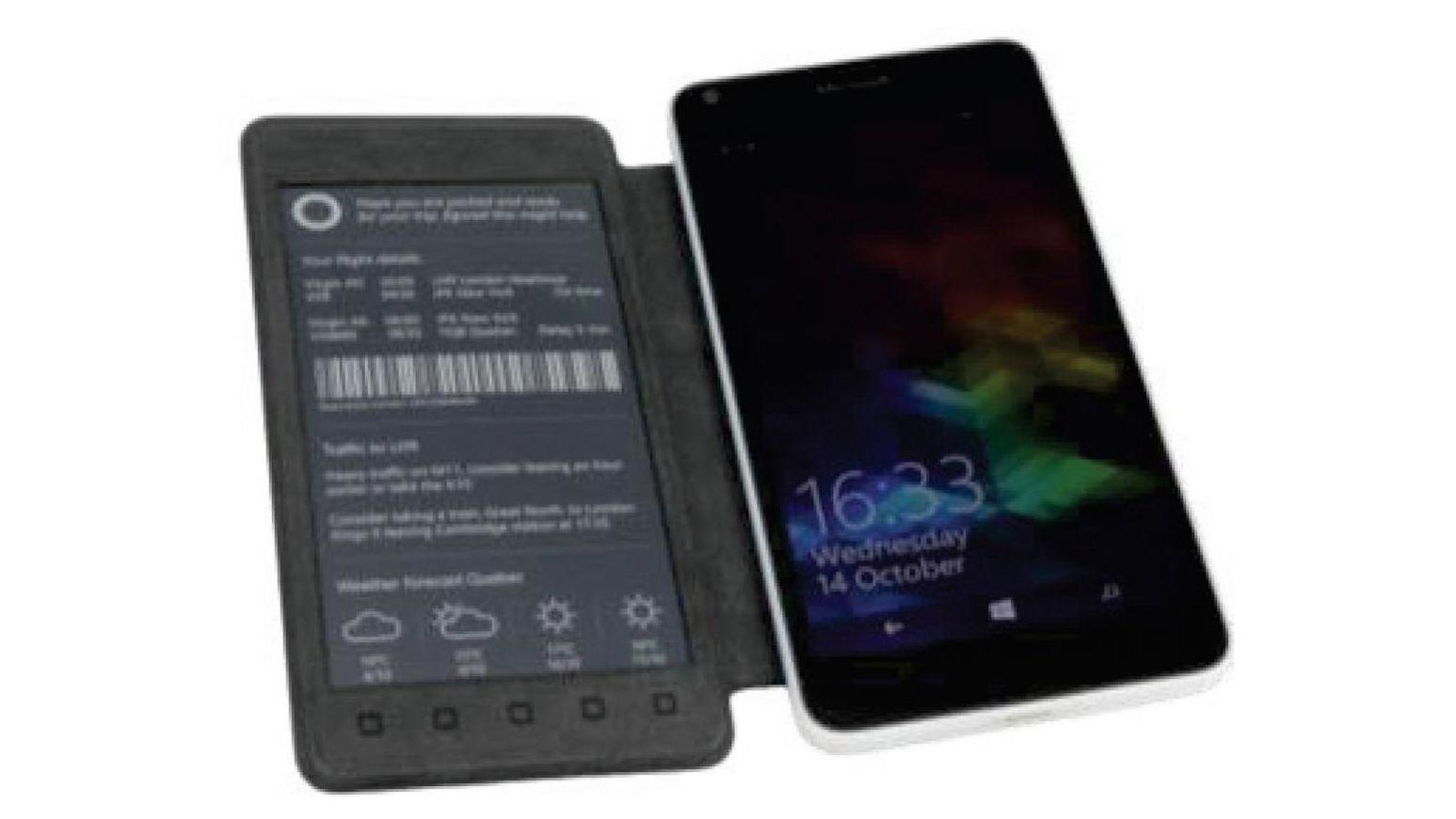 Lyst på et smarttelefonetui med integrert e-ink-skjerm?