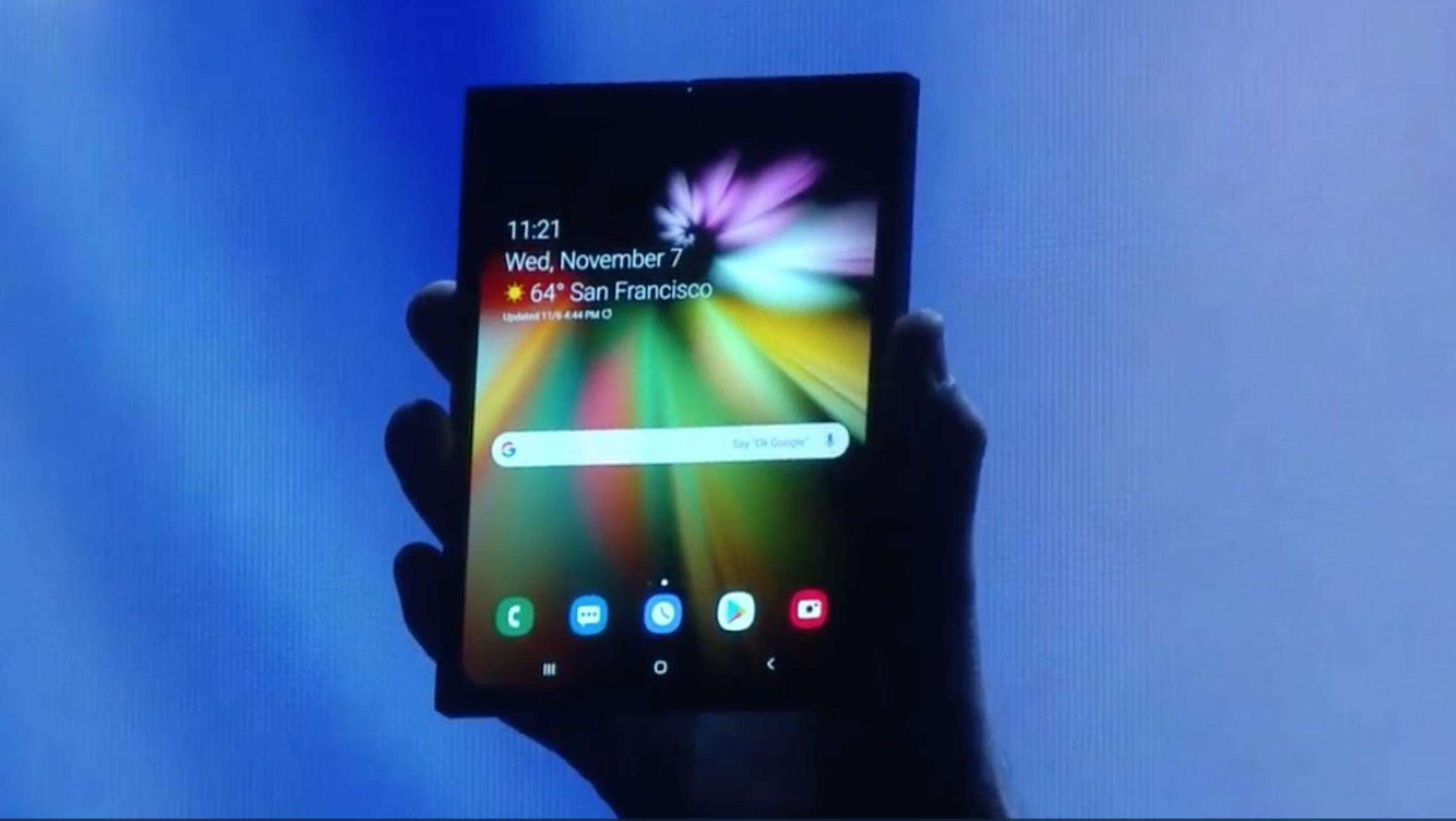 Her er Samsungs neste-generasjonsmobil som brettes sammen