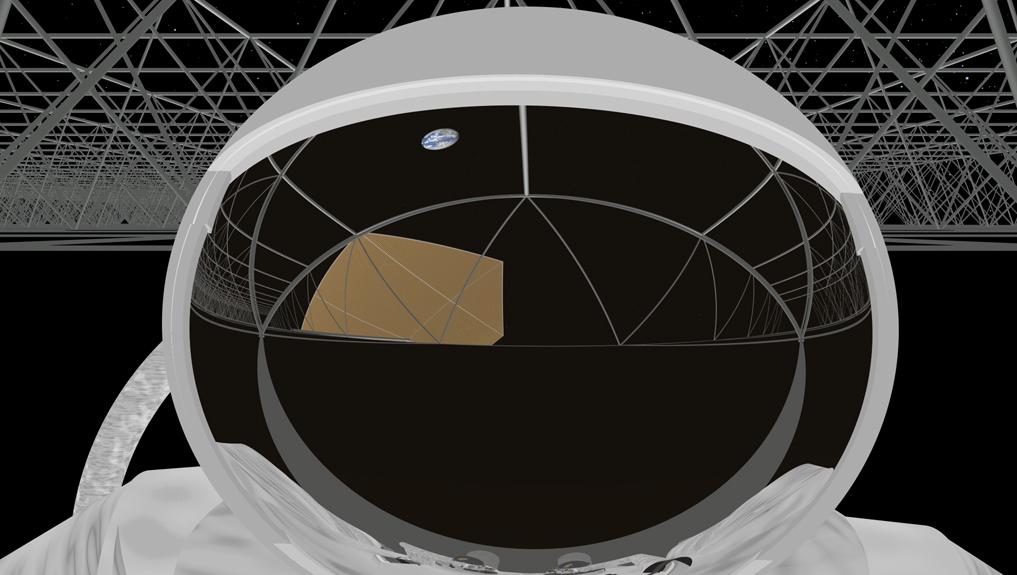 SURROUND-ASTRONAUT:Toshibas surround-hjelm er ikke ulik romdraktene astronautene bruker.