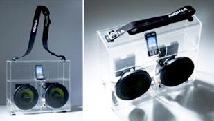 GJENNOMSIKTIG: Nokia tar opp konkurransen med Apples BoomBox med denne ghettoblasteren.
