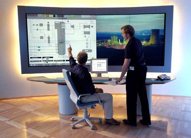 NOE FOR HJEMMEKINOEN? Siemens nye skjerm er beregnet på overvåking av kraftverk.