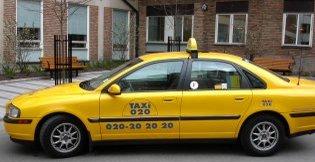 INGEN FARE: Du kan trygt legge igjen laptopen din i en Stockholms-taxi.