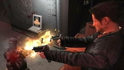 En scene fra spillet Max Payne.