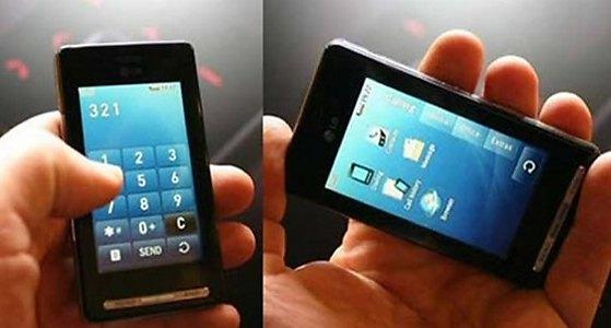Slik ser LGs Prada-telefon ut. Til forveksling lik iPhone, men med svært forskjellige spesifikasjoner.