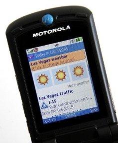 GO FOR MOBILE 2.0: Slik forventer Yahoo å kapre mobilkundene. Kanskje med å melde kun godvær?