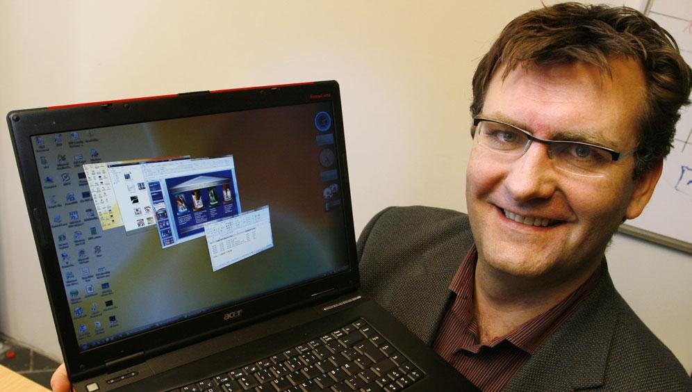 SIKKER: I Windows Vista står sikkerheten i høysetet, sier Microsofts Ole Tom Seierstad.