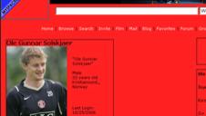 FALSK: Faksimile av den falske Solskjær-profilen på MySpace.
