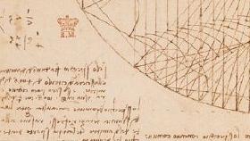 DA VINCI: Slik ser det ut når man blar i Leonardo Da Vincis notatbok på nettet.